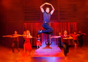 Dirty Dancing UK tour - Lewis Kirk as 'Johnny' and ensemble - cTristram Kenton